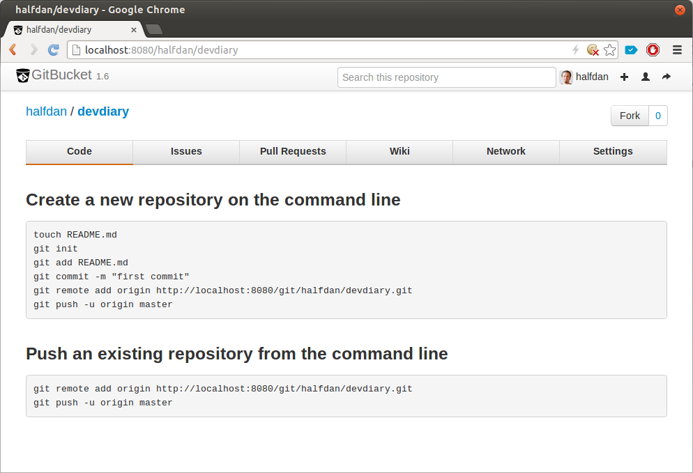 Gitbucket Repository View